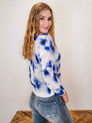 Printed Long Sleeve Round Neck Sweater (S-3XL)
