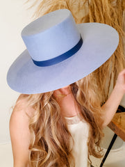 Wool Felt Boater Hat