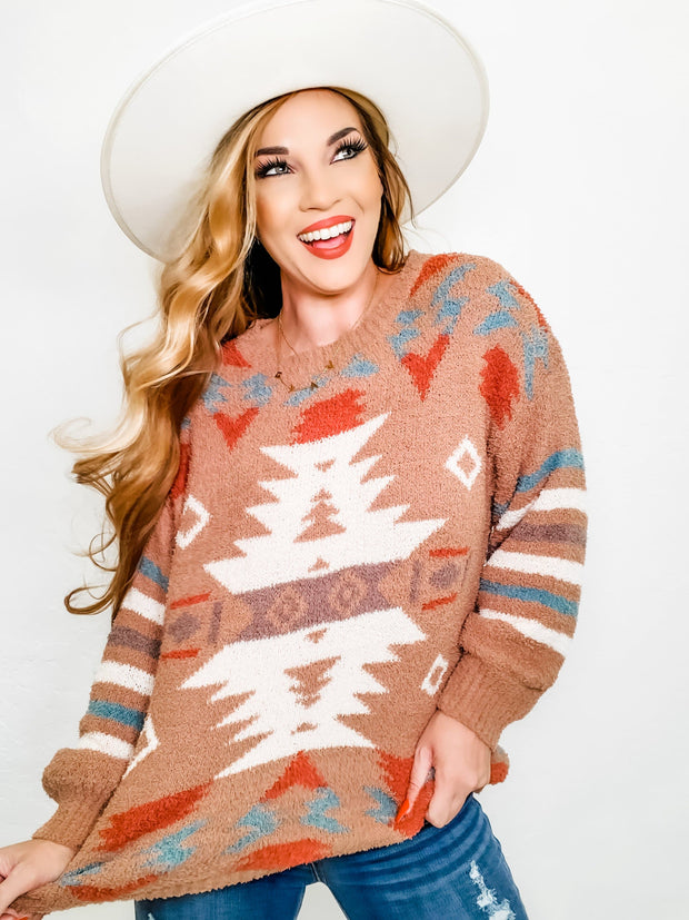 Aztec Detailed Sweater