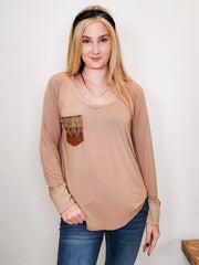 Pol - Long Sleeve Top With Pocket Detail (S-3XL)