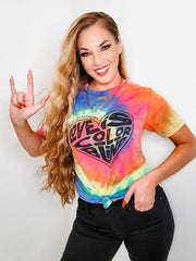 Love is Colorblind Tie Dye Graphic Top (S-3XL)