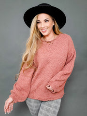 Pol - Long Sleeve Popcorn Sweater