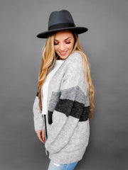 Pol - Long Sleeve Open Cardigan (S-3XL)