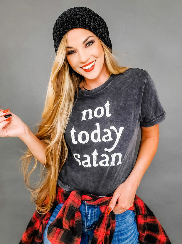 Not Today Satan Graphic Top (S-3XL)