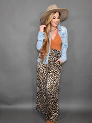 Leopard Silk Pants with Pockets (S-3XL)