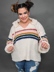Teddy Bear Pullover with Stripes