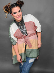 Maple Days Kimono With Belt (S-3XL)