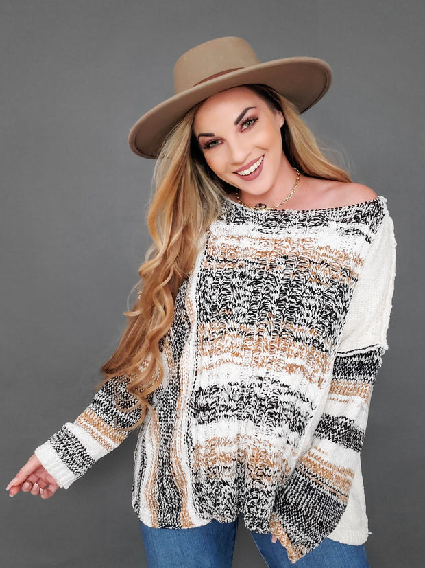 Pol - Multi Striped Chenille Sweater (S-3XL)