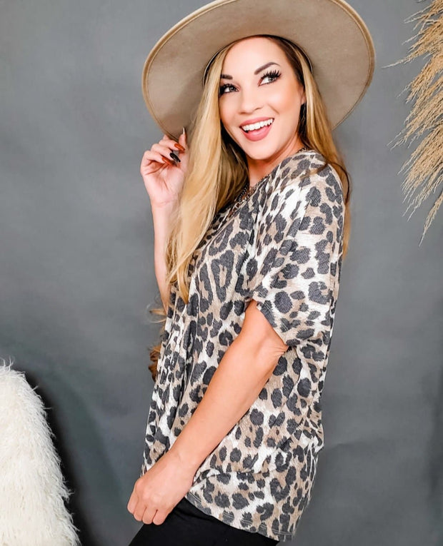 Leopard Printed Tunic Top (S-3XL)