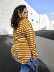 Long Sleeve Striped Sweater (S-3XL)