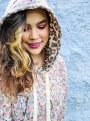 Multi Colored Animal Print Hoodie Top (S-3XL)