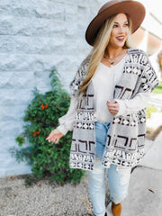 Knit Sleeveless Open Front Cardigan