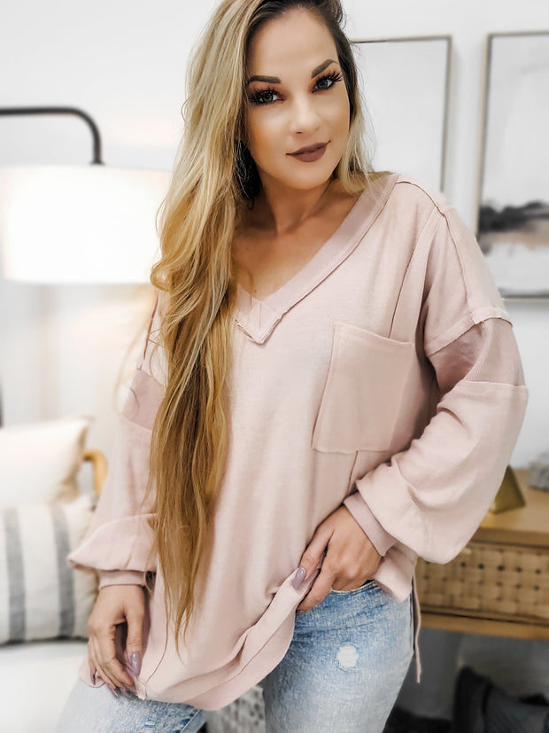 Long Sleeve Solid Knit Top (S-3XL)