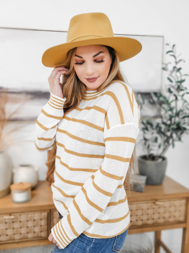 Textured Stripe Sweater