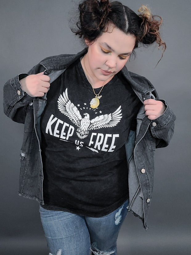 Keep Us Free Eagle Graphic Top (S-3XL)