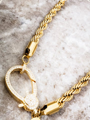 "Oak & Ivy - Rope Chains with Pave Clasp (16"" 18"" 20"")"