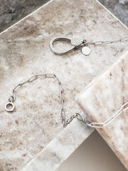 "Oak & Ivy - Paperclip Chains with Pave Clasp (16"" 18"" 20"")"