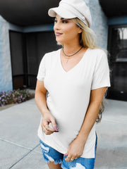 Super Soft V-Neck Basic Knit Top