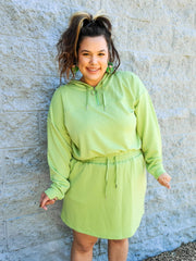 Half Zip Hoodie with Matching Skirt Set (S-2XL)