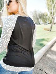 Long Sleeve Top With Contrast (S-3XL)