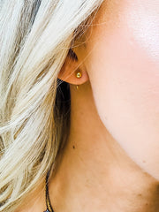 Curve and Dot Earring - Pair