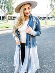 Tie Dye Long Sleeve Cardigan