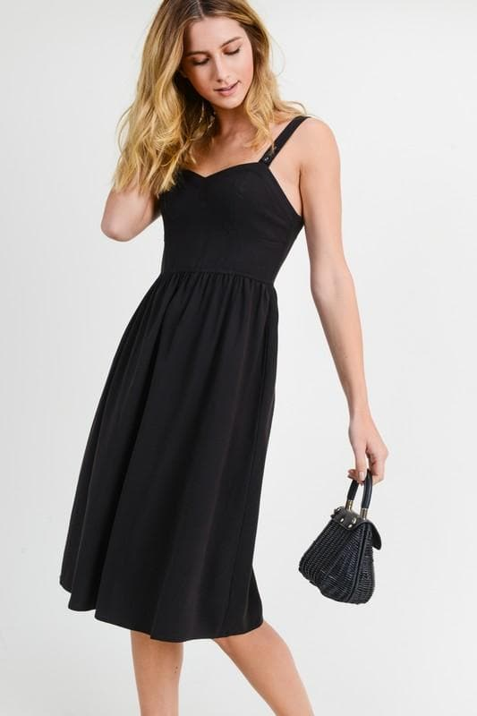 Buster Midi Dress with Side Pocket