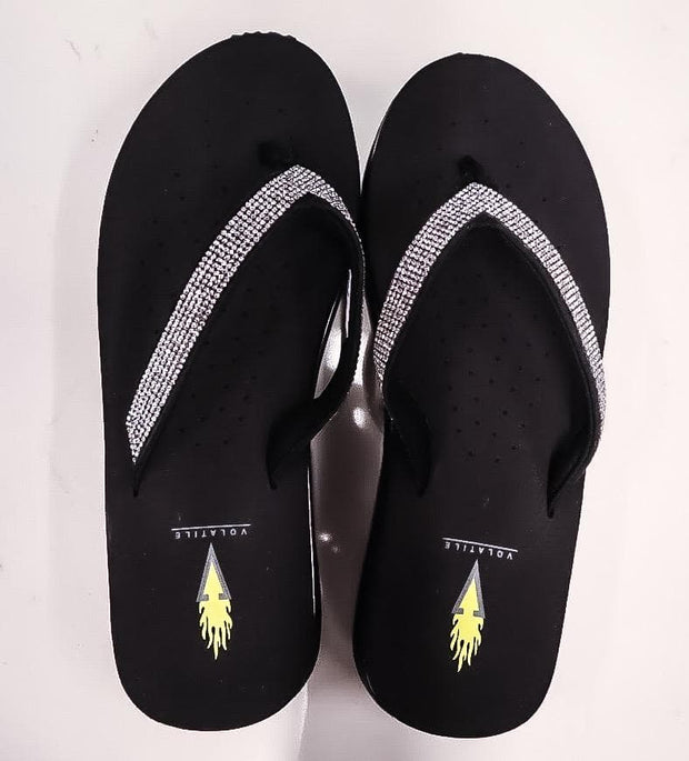 Memory Foam Flip Flop With Diamond Detail