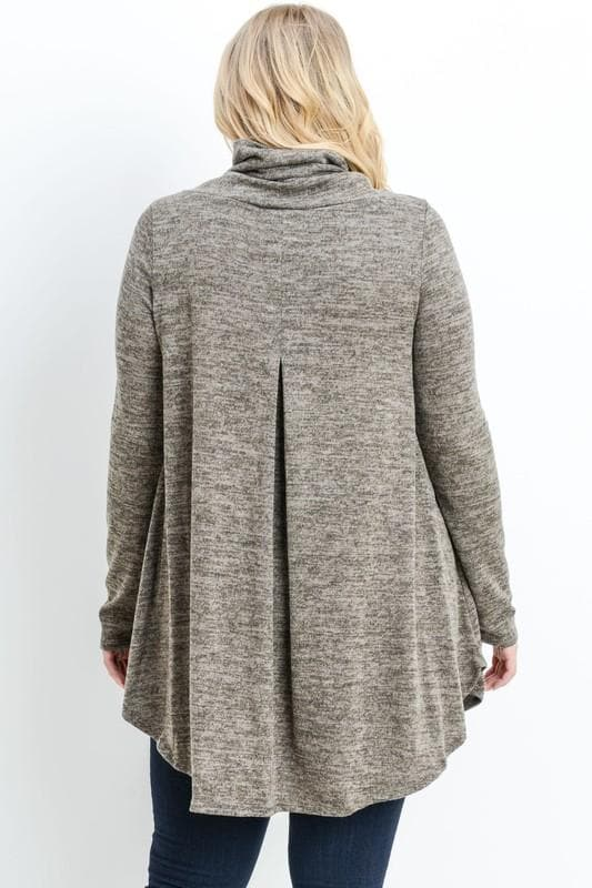Plus Size Cowl Neck Tunic Top
