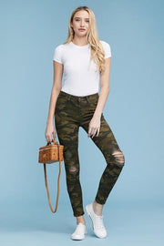 Judy Blue Camo Distressed Skinny Jeans