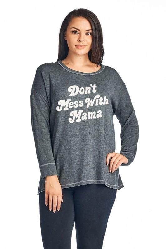 Plus Size Don't Mess with Mama Graphic Top