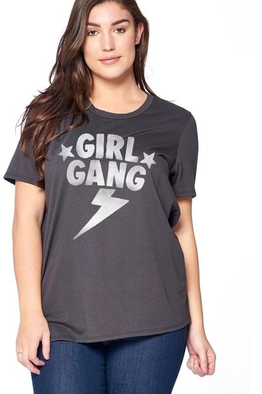 Plus Size Girl Gang Graphic Top