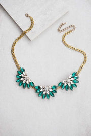 Emerald Bib Stone Necklace