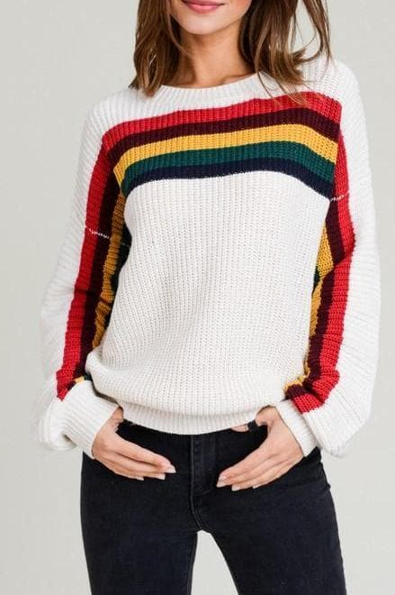 Rainbow Bright Chunky Knit Sweater