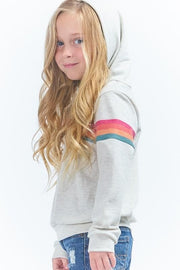 Kids Long Sleeve Rainbow Hoodie Sweater