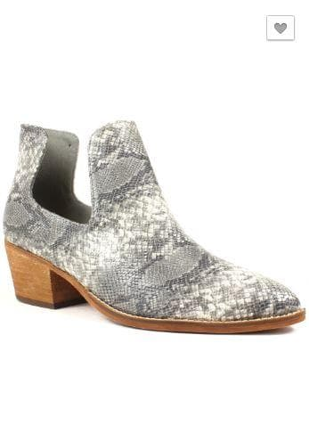 Newport Snakeskin Cut Out Booties