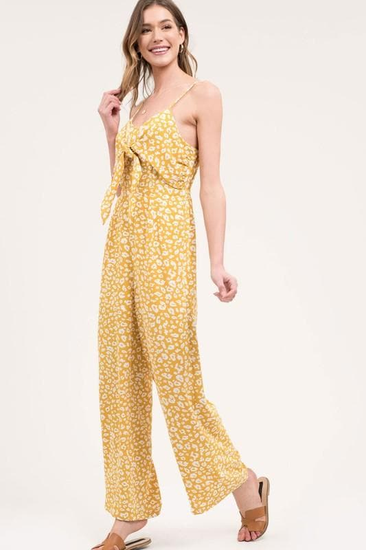 Leopard Jumpsuit with Front Knot