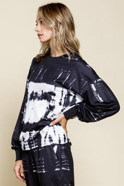 French Terry Tie Dye Pullover Knit Top