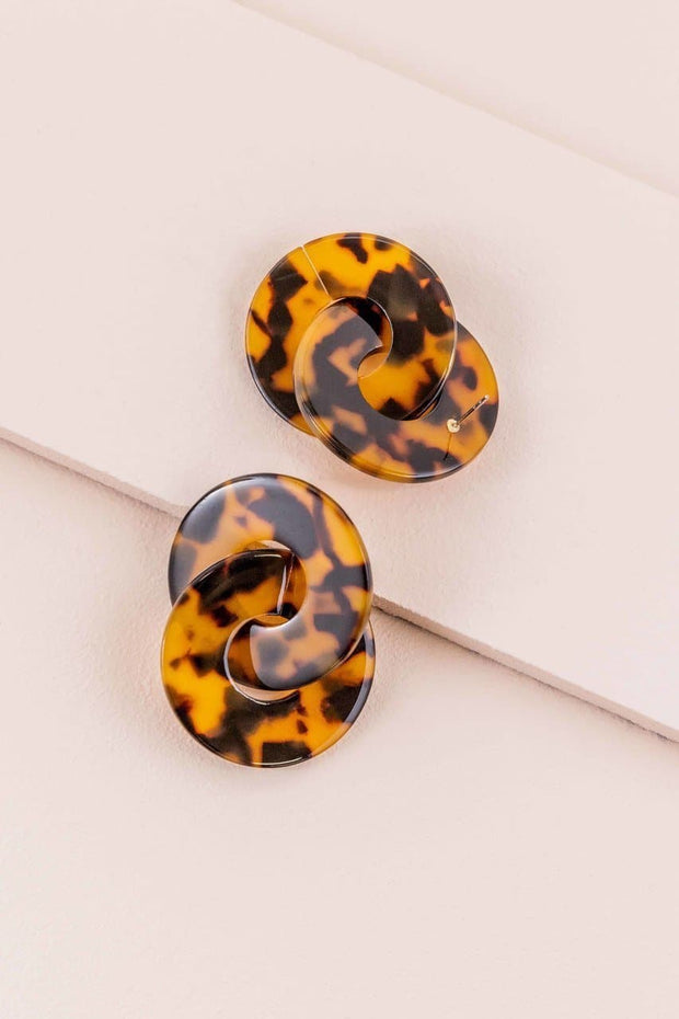 Chic Double Circle Drop Earrings