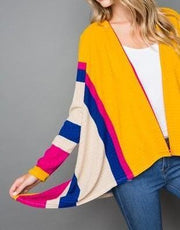 Color Burst Striped Kimono