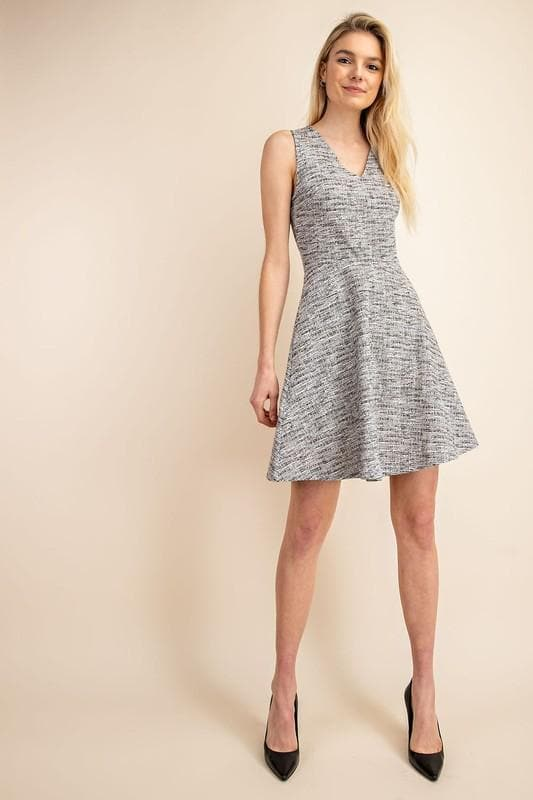 Back Tie V-Neck A-Line Dress