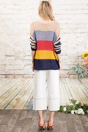 Stripe Stripe Baby - Lightweight  Sweater Knit Top