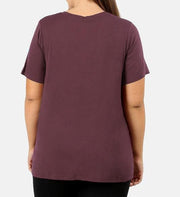 Back to Basics Premium Rayon Short Sleeve V-Neck Tee