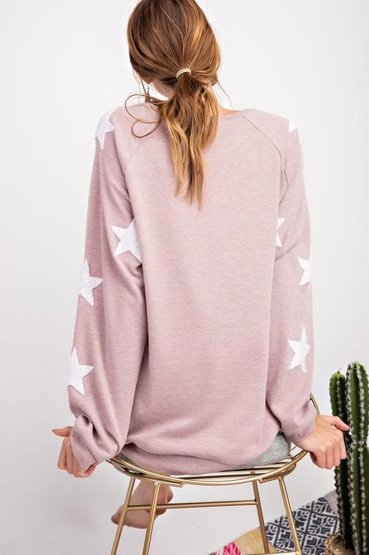 Easel - Stargaze Long Sleeve Pullover Sweater(S-3XL)