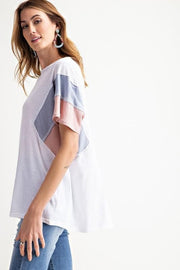 Easel Color Blocked Dolman Oversized Tee
