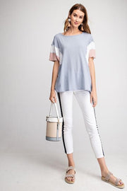 Easel - Color Blocked Dolman Oversized Top