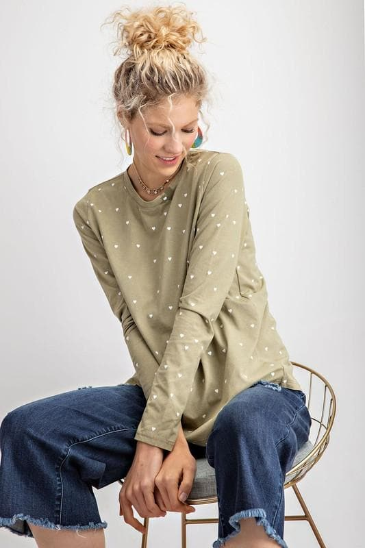 Easel - We The Heart Long Sleeve Top
