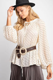 Easel - All Hearts Tunic Blouse