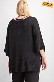 Plus Size Sweater Knit Pullover