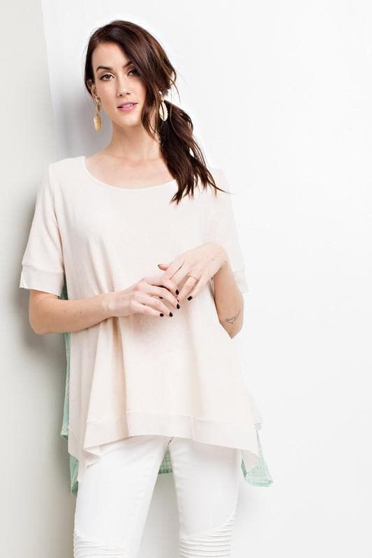 Casual Fit Short Sleeve Terry Knit Top